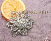 Bridal Flower Comb, Wedding Flower Comb,Hair Flower Comb,Bridal Hair Flower Comb, Garden Wedding, Silver, Crystal Rhinestone