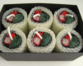 Sushi Beeswax Candles - California Roll - Set of 6