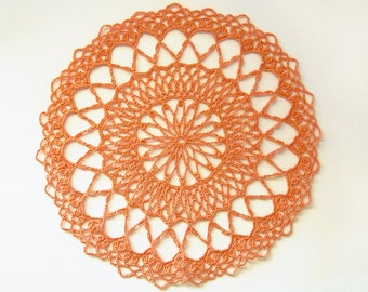 Orange Ferris Wheel Doily - Tangerine, 9