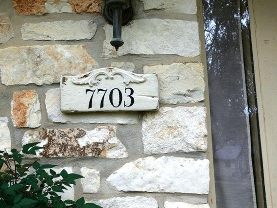 Handmade Custom Wood Signs. House Number. Personalized and Made to Order.
