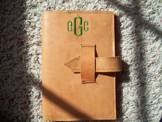 Monogrammed Leather Journal Refillable
