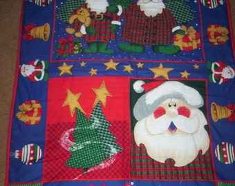 Hand Quilted Santa Wall Hanging