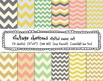 digital paper chevrons, zig zag paper, chevron stripe printable paper patterns, digital photography backgrounds, instant download - 311