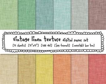 digital paper linen texture vintage pastel colors, digital backgrounds, linen crosshatch patterns, instant download - 317