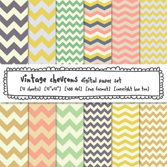 digital paper chevrons, zig zag paper, chevron stripe printable paper patterns, digital photography backgrounds, instant download - 311