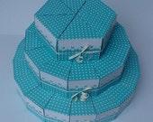 Paper cake ''Blue dream'', favor boxes
