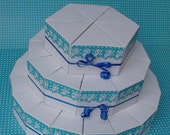 Paper cake ''Mister white and blue'', favor boxes