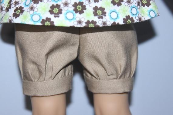 American Girl doll  clothes - khaki shorts