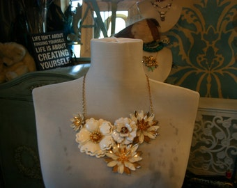 Bridal vintage broach necklace- custom made for you