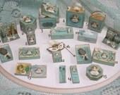 Ladys TOSCA historic perfume  box OOAK Dollhouse scale 1/12