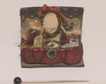 Witch beauty shelve OOAK Dollhouse scale 1/12