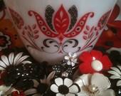 Vintage Fire King Modern Tulip Mixing Bowl