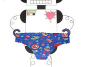 Rocket Robot Panties by She Felt Geeky - Made to Order UK Size 8-16