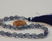 Iolite Straight Drill Drops Faceted