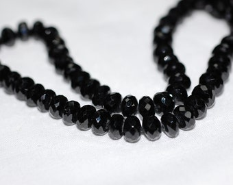 Black Spinal Rondelle Faceted