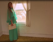 Vintage Sea Green Dress with Ruffle Overlay by Miss Rubette