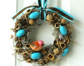 "Songbird Nut Wreath: 6"" Mini-Hickowreath"