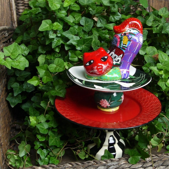 Sale garden totem cat garden sculpture bird feeder for Cat yard art