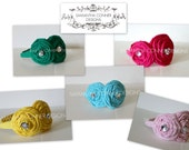 Rylee- Knit Rosette Headband- Lots of Color Choices
