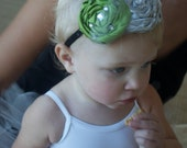"BABY Headband for WEDDING ROSETTES ""The Sweet Pea""- You Choose the Colors"