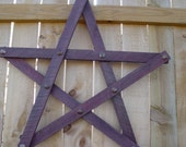 Large Rustic Industrial Urban 3D Star