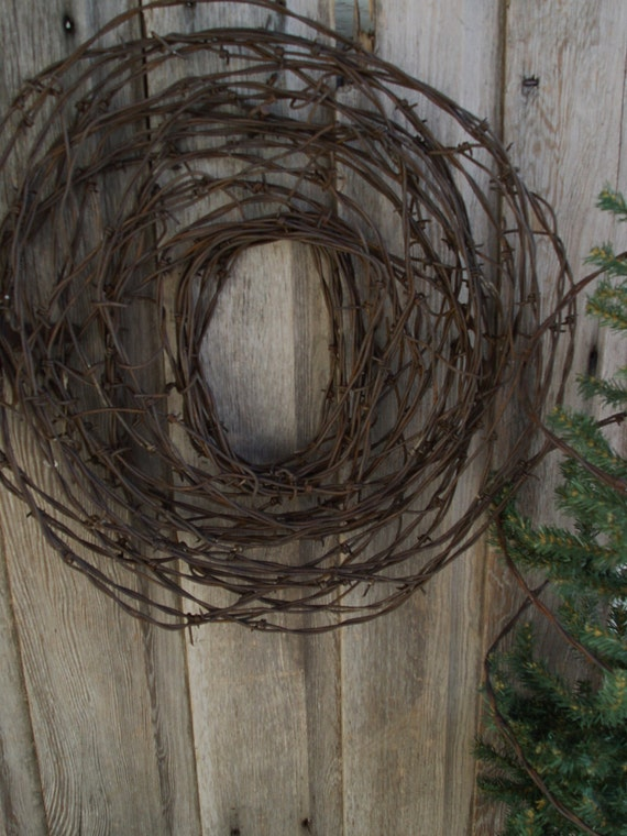 Barbed wire wall hanging