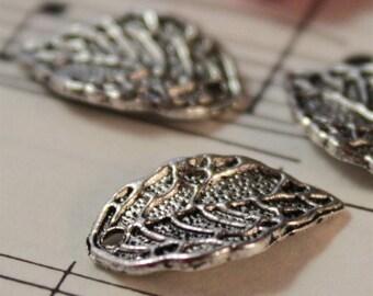 25 pcs Antique Silver Leaf Charms 16mm (SC168)