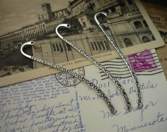 5 pcs Silver Swirl Bookmarks- Add Your Own Beads (SF368)