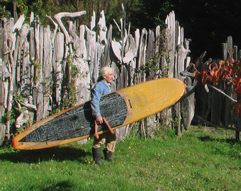 Handcrafted Old Redwood Surfboard Carrier