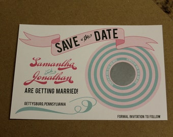 DIY Printable SCRATCH OFF Save the Date - Lovely Little Party - you choose color