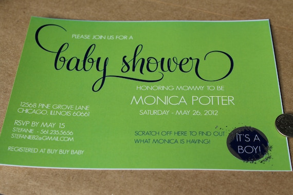 SCRATCH OFF  - DIY Printable Baby Shower Invite - Lovely Little Party - you choose color