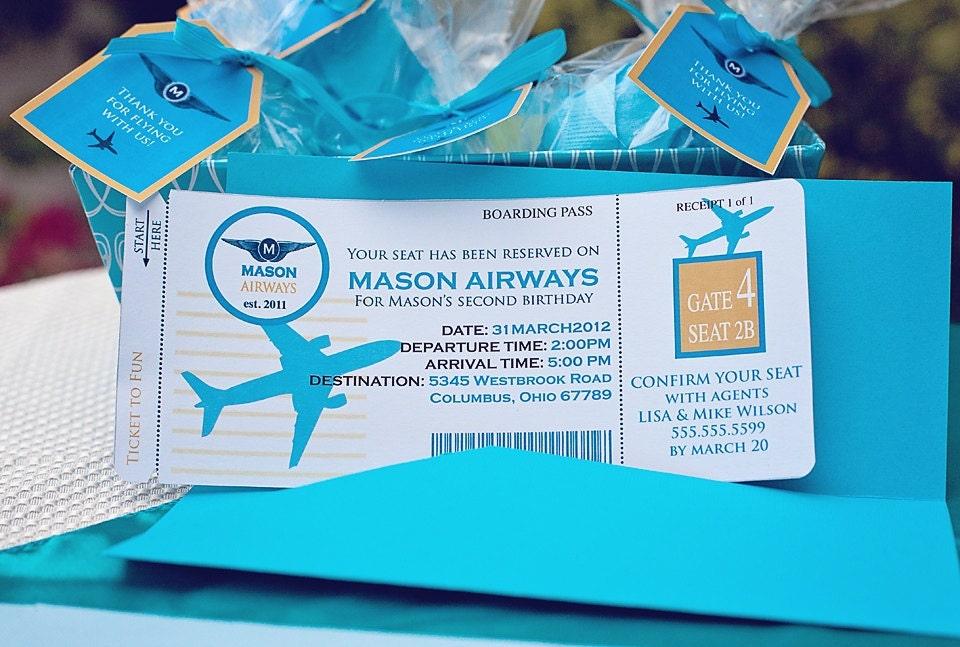 diy printable airplane birthday invitation kit invite and, Birthday invitations