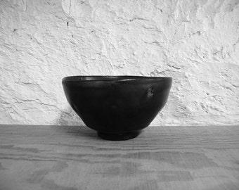 Black glazed bowl 1763, wood fired