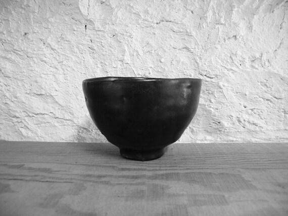 Black glazed bowl 1759, wood fired