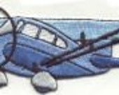 DIY Blue PLANE Large SiZE: 4 1/4 X 1 1/2 Super Details 100% Embroidery Iron on Patch By Cedar Creek Patch Co on ETSY