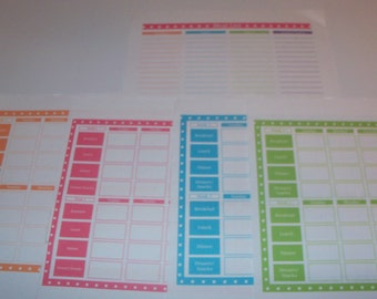 Printable Rotating Menu Planner: Plan Once, Eat All Year Excel File (Editable) - Immediate Download Available