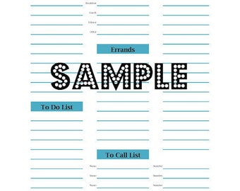Printable Daily Planner PDF - Immediate Download Available