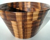 Large Wooden Bowl- Kitchen Accessory-Multi-Wood Bowl