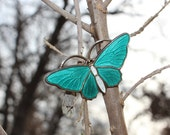 Vintage Aksel Holmsen Turquoise Butterfly Brooch