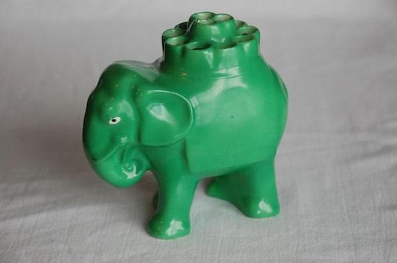Elephant cigarette holder vintage German Erphila green figurine