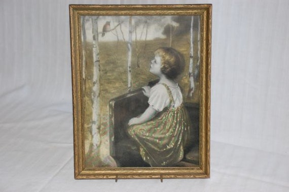 Vintage framed print Spring Song by Simon Glucklich