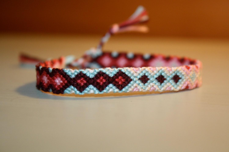 friendship bracelet cherry breeze diamond chevron. Black Bedroom Furniture Sets. Home Design Ideas