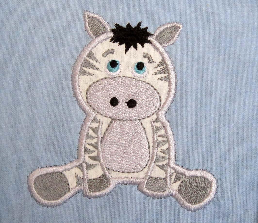 Instant download zebra baby machine embroidery applique design