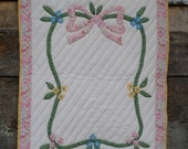 Reserved listing for Allison - Baby patchwork quilt - PINK BOW