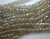 crystal bead, crystal faceted rondelle 6x4mm,15 inch