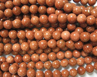 stone bead,Gold Stone,smooth round 10mm,15 inch