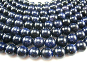 stone bead,blue sandstone 10mm,15 inch