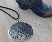 Classic Pendant Necklace on Leather Cord
