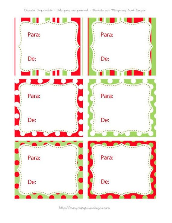 Items similar to tarjetas para regalos de navidad - Tarjetas de navidad artesanales ...