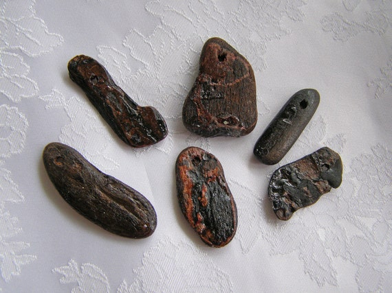 Natural Driftwood Beads Drilled Wood Beads